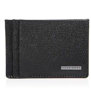 Hugo Boss Black Leather Card Holder